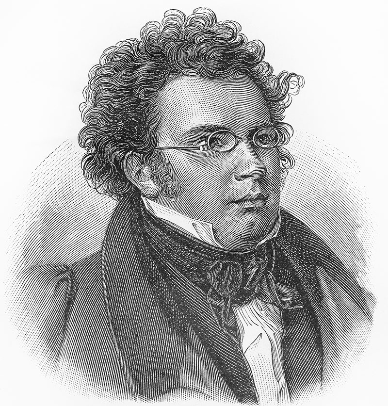 Franz Schubert - Picture from Meyers Lexicon books written in German language. Collection of 21 volumes published between 1905 and 1909.; Shutterstock ID 88369324; PO: 123